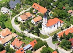 Templom légifotó
